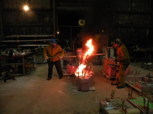 Pouring Molten Metal
