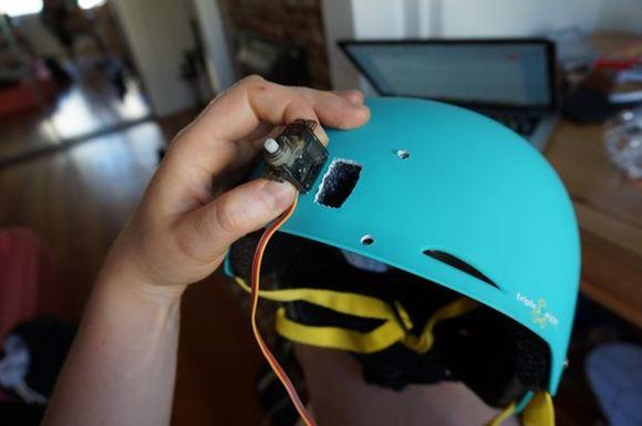 Servo on Helmet
