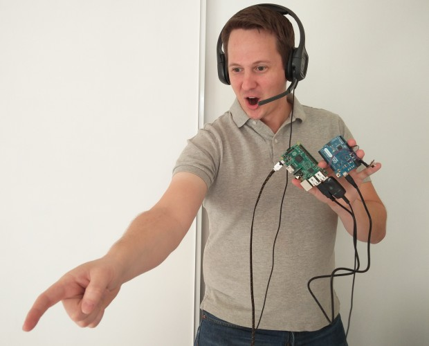 Roomba, I command thee! The author demonstrates voice command with an Arduino and Raspberry Pi.