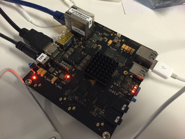 BeagleBone Black fans will note the blindingly bright blue LEDs are gone on the X15 in favor of softer red LEDs