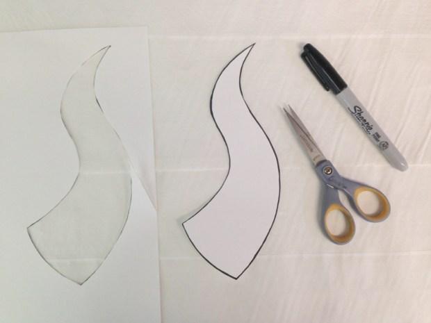 Sculpt Demon Horns from Foam and Paper Towels