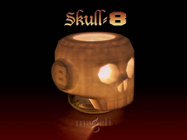 Creepy prints for halloween: Skull-8