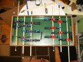 Player paddles carefully positioned and glued
