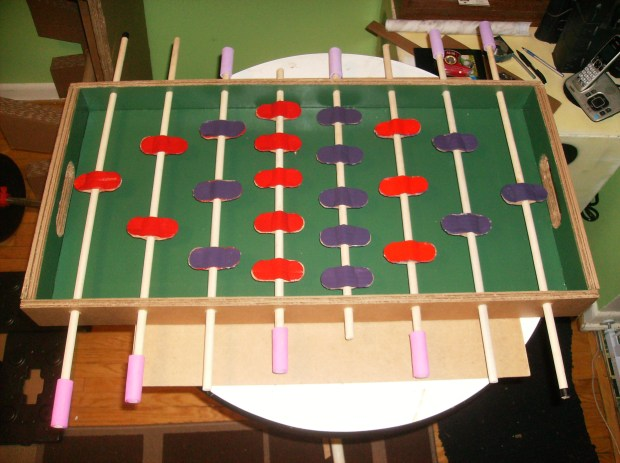 A Foosball Table Made Almost Entirely From Cardboard Make