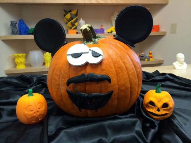 Airwolf3D 'pimped their pumpkin' using 3D printed pieces making it look almost like Mr. Potato Head.