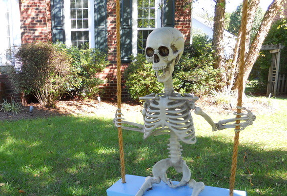 Just a Skeleton Swinging by Itself on Your Lawn