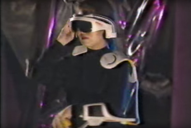 CD-Rom shoulder pads are in style again in this future year of 2003.