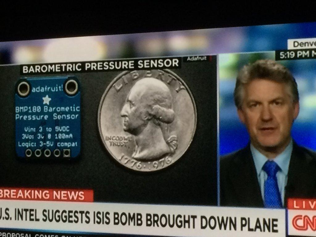 CNN Shows Adafruit Part During Bombing Segment