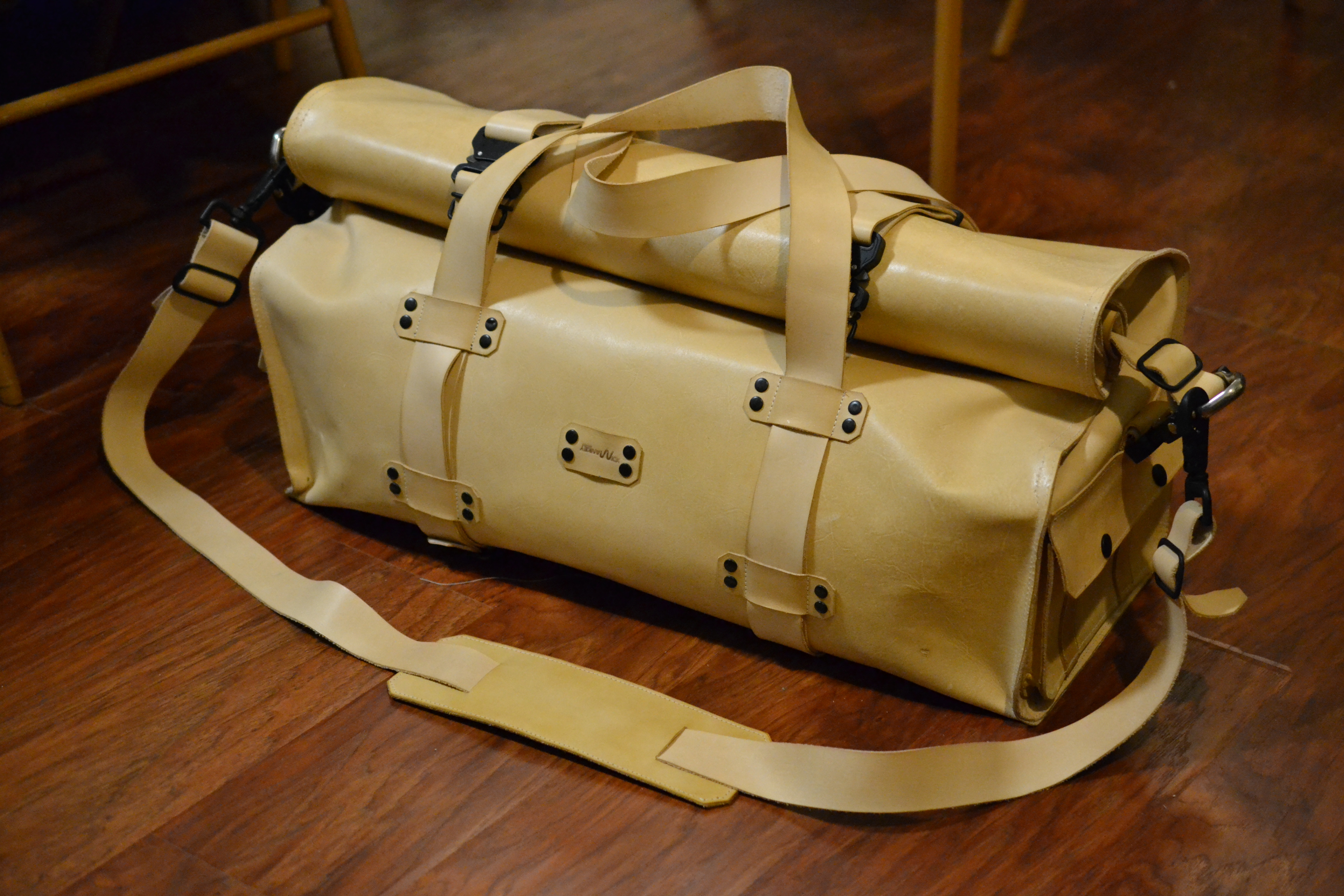 See How This Beautiful Leather Duffel Dry Bag Was Made