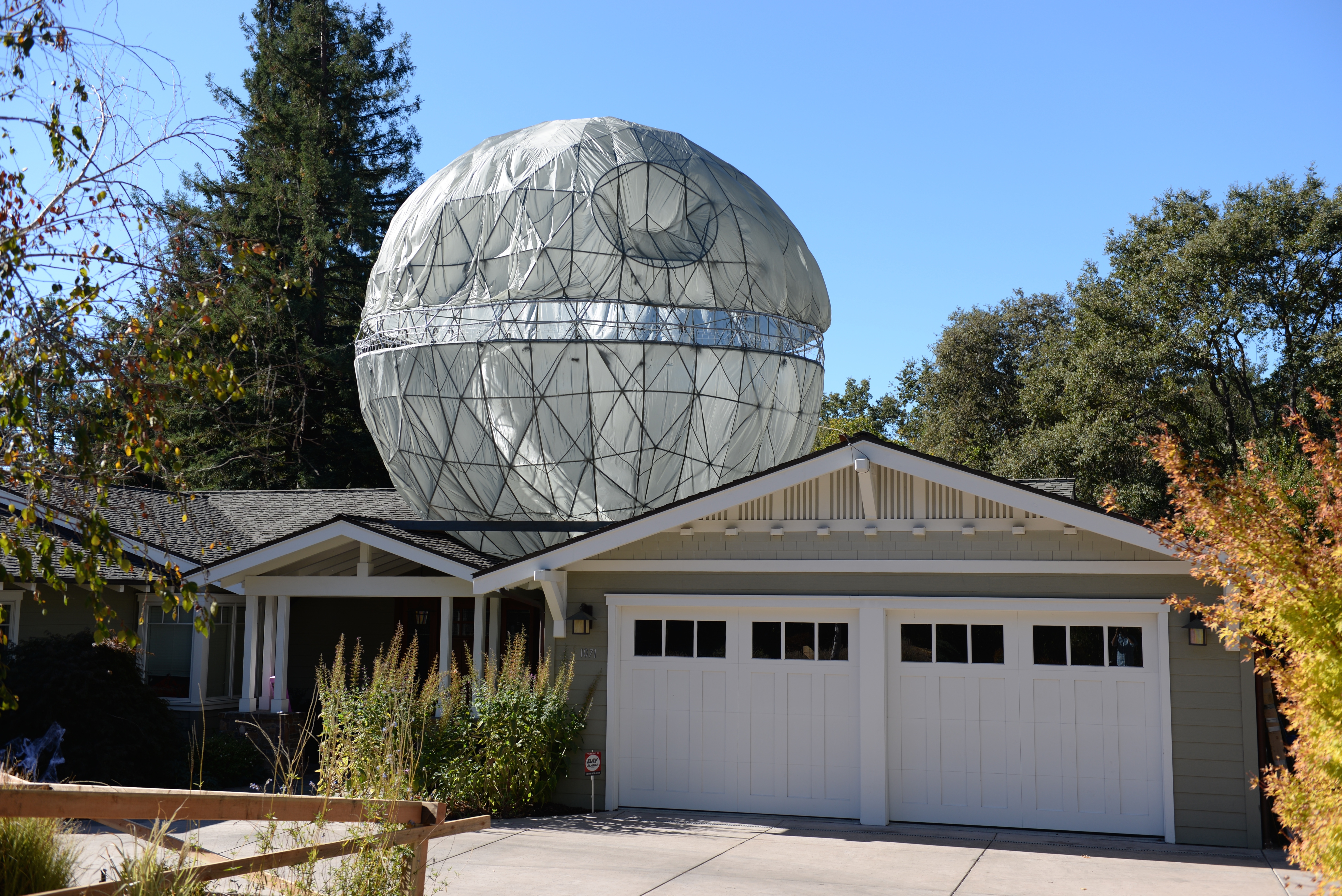 Dad Builds a 23-Foot Death Star on His Roof