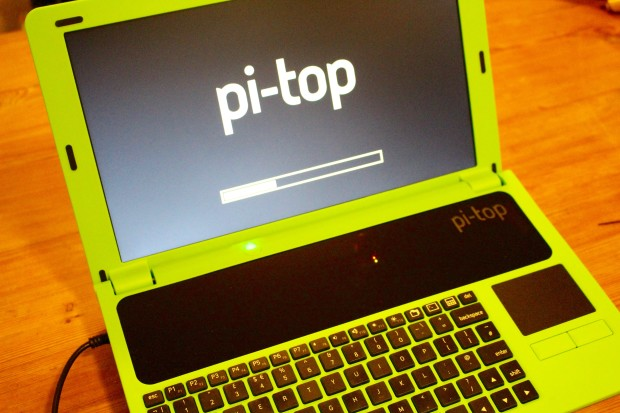 Booting the Pi-Top.