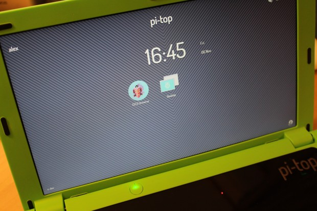 The Pi-Top dashboard.