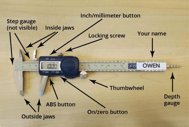 Digital Caliper Anatomy