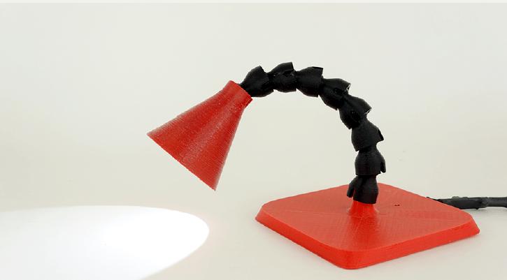 3d Print Your Own Flex Neck Lamp Make
