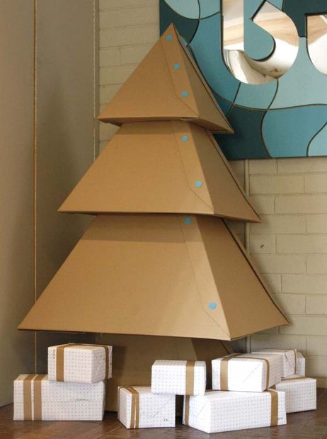 6 fake christmas trees you can fold 3d print or wire up at home if you find yourself ordering most of gifts online anyways then you can easily scavenge enough cardboard from the packaging to make this christmas tree solutioingenieria Choice Image