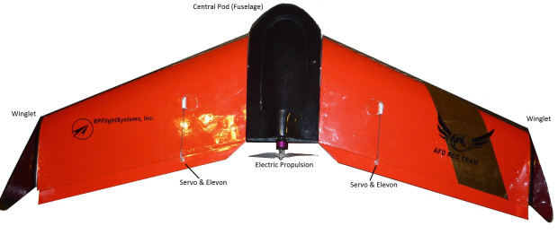 Gene Robinson's Spectra fixed-wing drone. Photograph by Gene Robinson