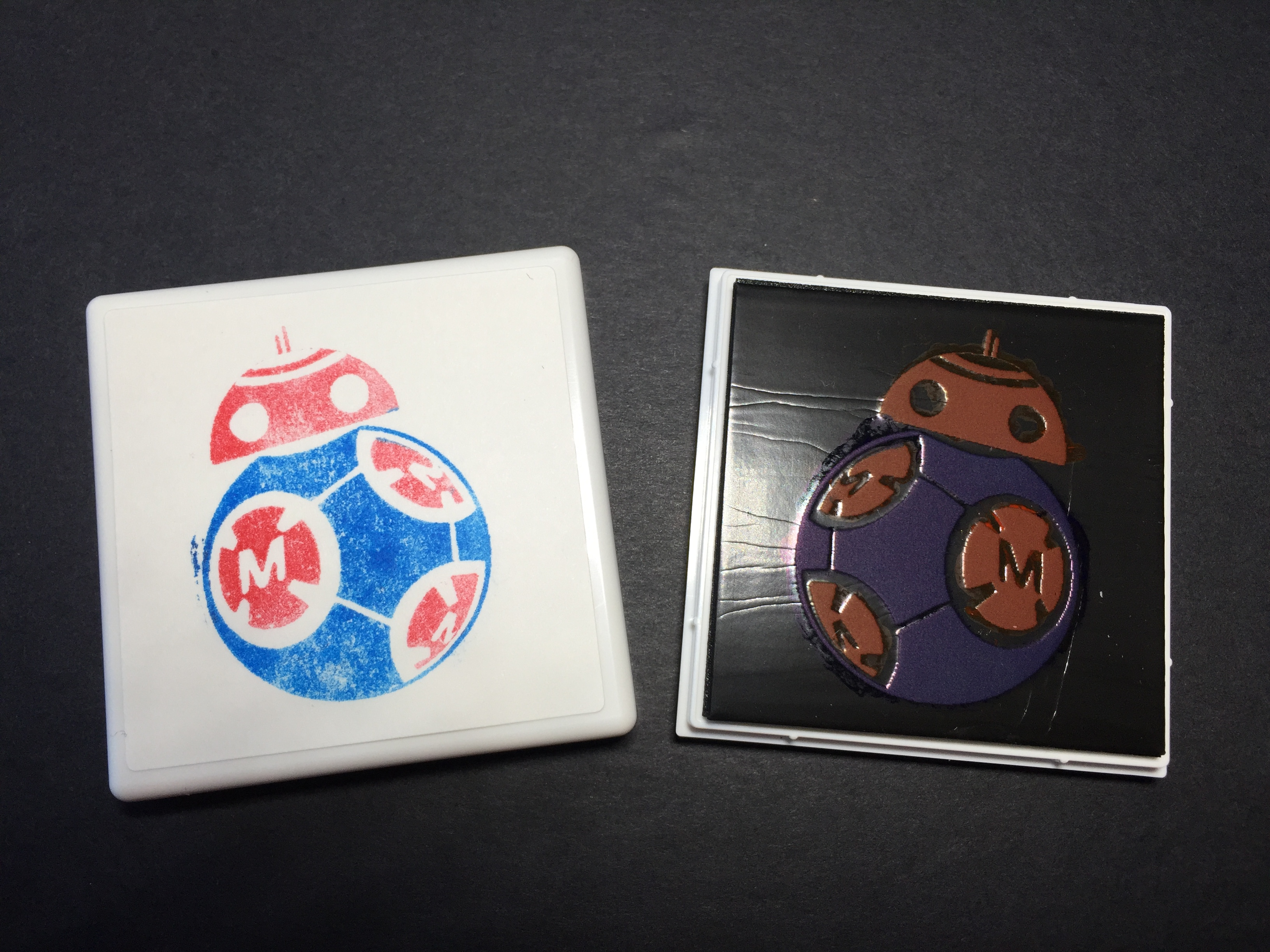 How I Made a Makey BB-8 Hybrid Rubber Stamp