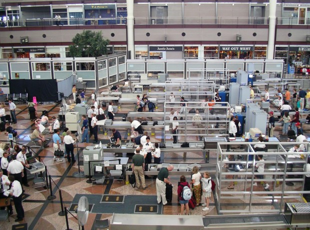 Security section of Denver International Airport