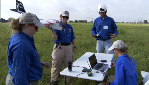 Murphy and students conducting practice flights. Photo: CRASAR
