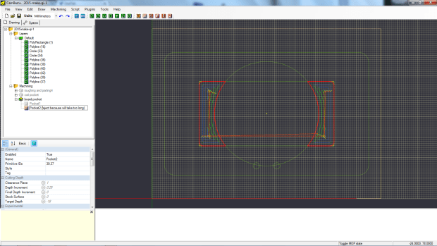 d - screenshot of WRONG way to pocket, this will take forever
