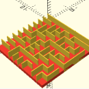 Use Math to Design Mazes in OpenScad