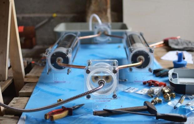 06 Showerloop under construction - SHOWERLOOP