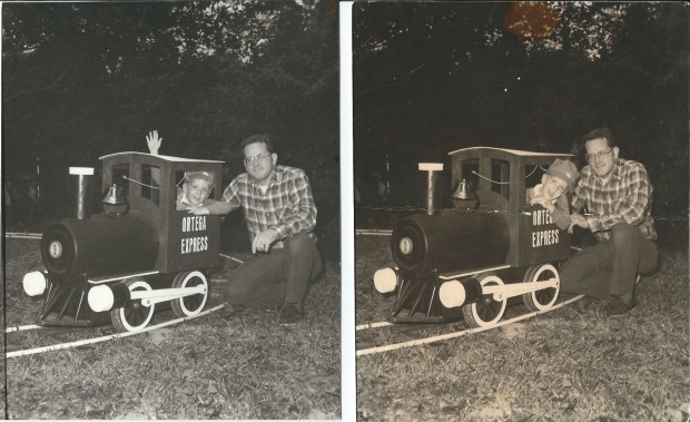Brian and Dad with Train
