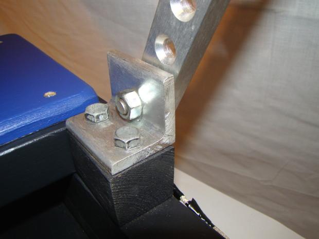Hinge bolt for handles