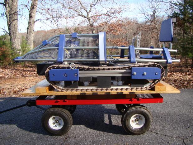 Final Assembled Vehicle on Cart