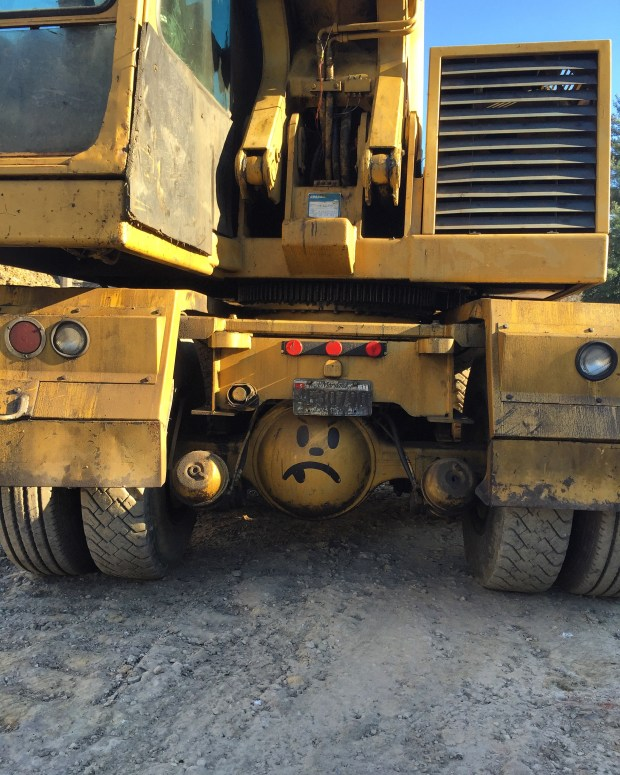 Even excavators have a sense of humor. Image by Will Holman.