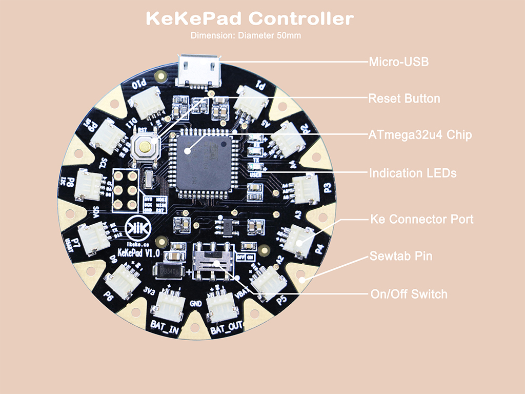 Kekepad Wearable Board Brings Easy Alternative To Conductive Thread Wiring Leds In Parallel Connection The Wires Would Need Be Soldered But Doing This Means That Could Not Easily Removed If There Were Any Mistakes
