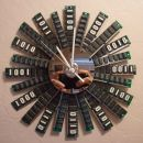 8 Cool Clocks Upcycled from Computer Parts