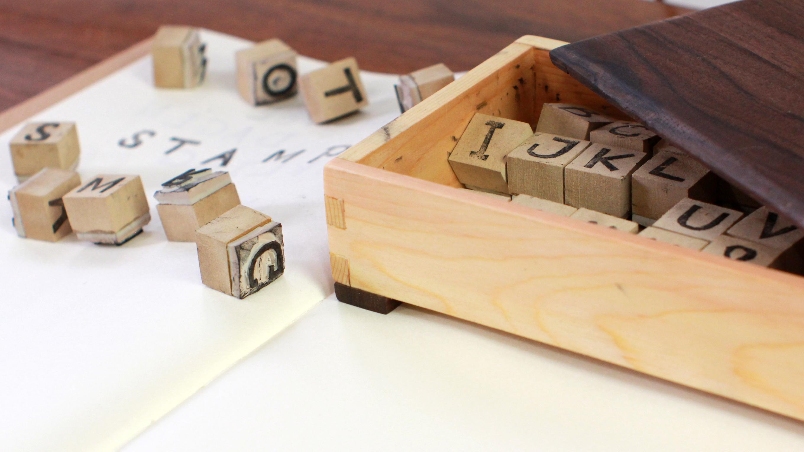 Darbin Orvar: Carve Your Own Rubber Stamp Alphabet