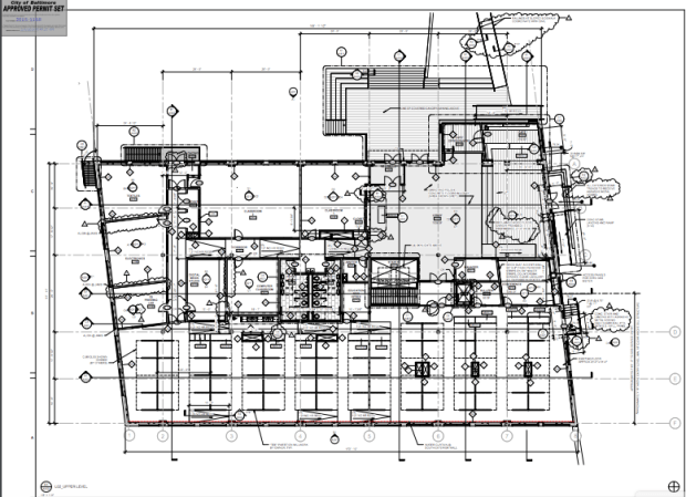 Final permit set floor plan for the upper level. Image courtesy of CBHA.