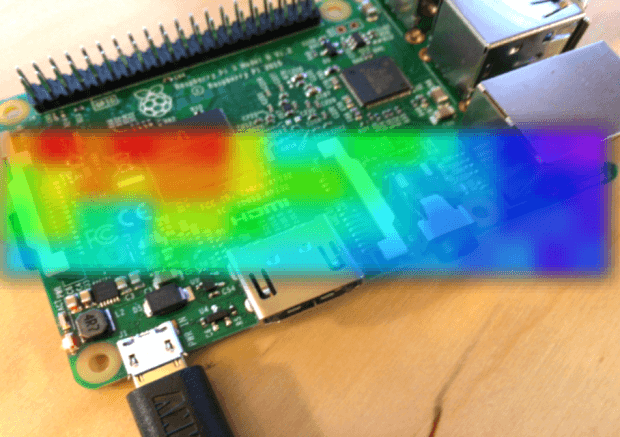 Thermal imagery of Raspberry Pi 3