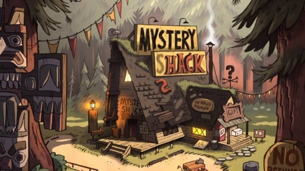 "The Mystery Shack is the main house where the events of the animated series ""Gravity Falls"" take place. Minor details of the shack are inconsistent throughout the show, so we picked the ones we preferred."