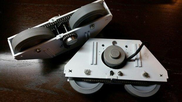Foot drives built following Frank Pirz's design.