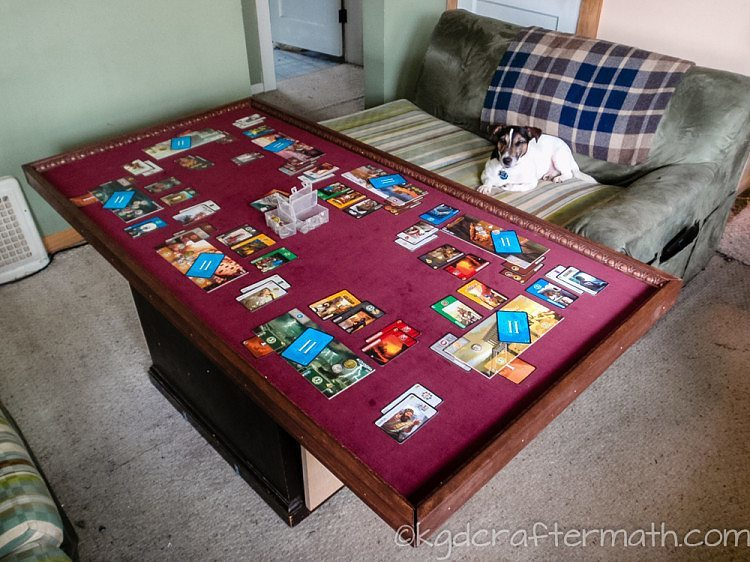 What Appealed To Me About This Table Was That It Was Just A Playing Surface  With No Legs. It Was More Simple To Make, And Was Easy To Put Up Against ...
