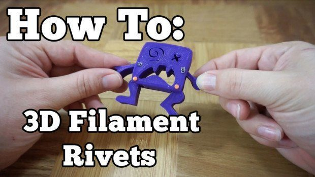 Maker and STEM educator Barb Noren details the technique on how to make 3D filament rivets for a quick and easy solution in connecting printed pieces. (Photo by Barb Noren)