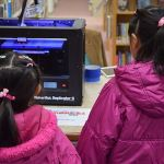 Many locations held 3D printer demonstrations for attendees, like this Makerbot demo at Piscataway Public Library. Photo credit: Doug Baldwin