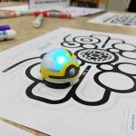 The new Ozobot line follower was a popular addition to the robots at NJ Makers Day. Photo credit: Sandra Roberts