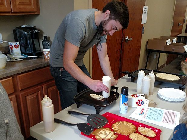 Pancake art was a fun addition to Warren County Headquarters Library activities. Photo credit: Kelly Durkin