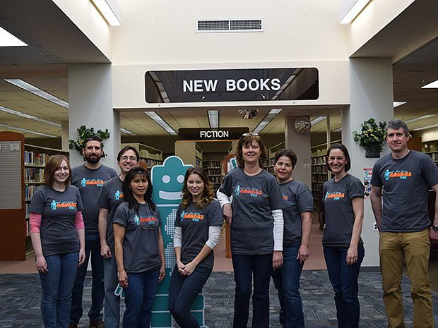 Doug Baldwin, with the team at Piscataway Public Library, organized NJ Makers Day 2016. Photo credit: Piscataway Public Library