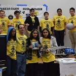 "Like many other high school robotics teams, Piscataway High School Team 224, ""The Tribe,"" brought their competition robot to share with the public. Photo credit: Doug Baldwin"