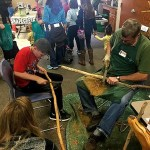 Wood carving demonstrations showed attendees how to make your own walking stick. Photo credit: Kelly Durkin