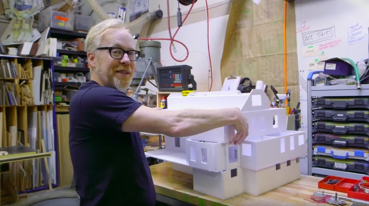 Adam Savage Builds His Childhood Home in Foamcore