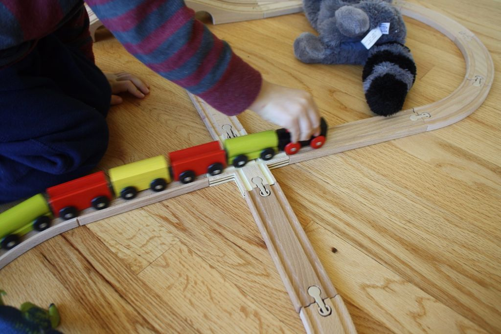 Making a Wooden Toy Train Crossing