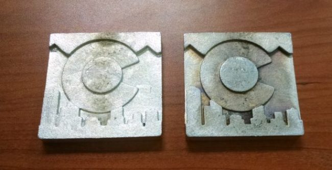 Finished CNC milling pewter casting