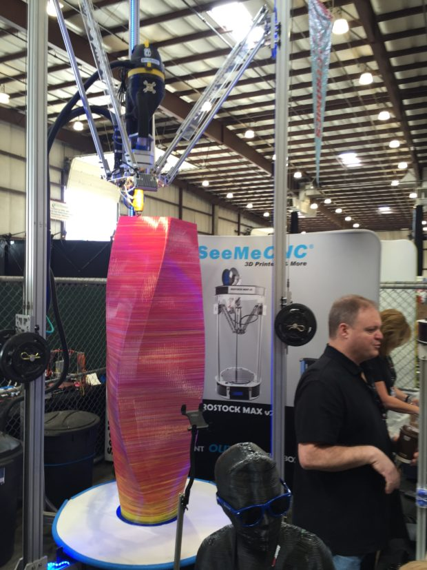 17 foot tall 3D printer from SeeMeCNC (Keith 11:55am)