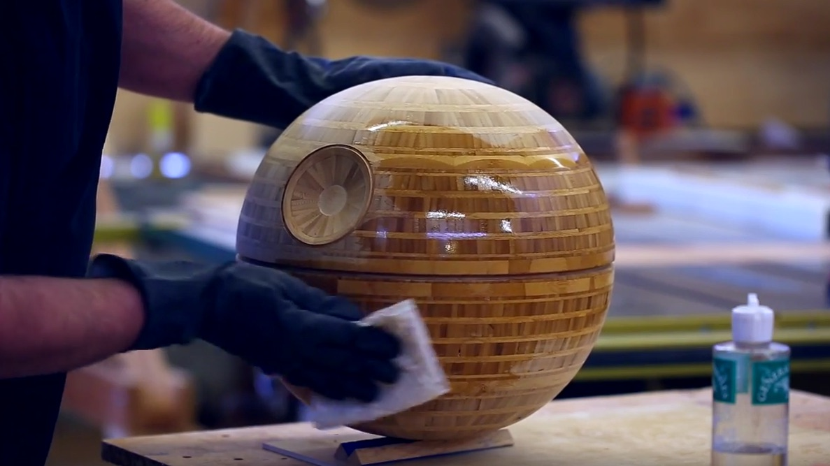 Behold the Death Star Turned on a Lathe!